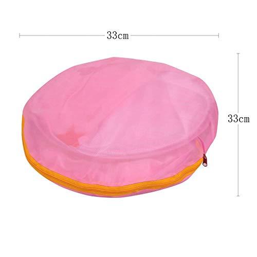 LEADSTAR Tenda da Gioco per Bambini Principessa Pop Up Pieghevole Piscina di Palline (Rosa) - 1