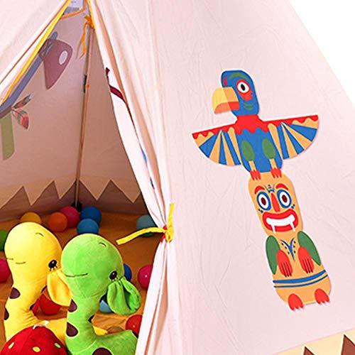 Leiyini Tenda di Tenda per Bambini Tenda da Gioco per Boy Girl Indoor & Outdoor, Tenda per Bambini Gioco da Casa House House Tenda Esagonale Indiana Baby Ocean Pool Pool Playhouse - 1