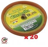 LGVSHOPPING Confezione Risparmio 20 X Fiaccola Candela Aroma Citronella Cocci in Terracotta Diametro 17cm Antizanzare - 1