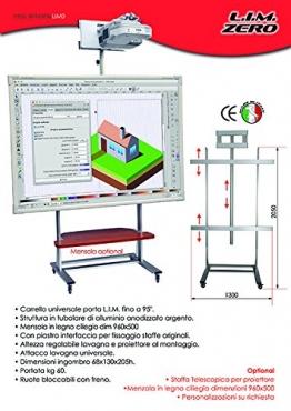 """LIM0 Carrello universale porta lavagna interattiva multimediale max. da 95"""" - 1"""