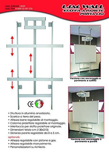 LIMW Staffa a parete porta Lavagna interattiva multimediane e schermi monitor touch - universale adatta anche a pareti in cartongesso - 1