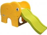 LittleTom Scivolo a forma di elefante 153x50x73cm ondulato per bambini piccoli a partire da 1 anno Giallo Verde - 1