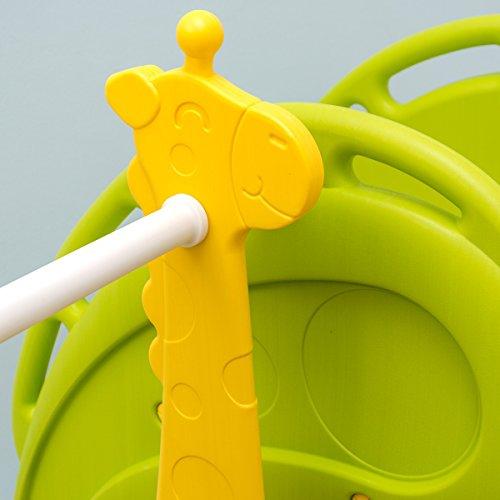LittleTom Scivolo Altalena di plastica casetta 180x110x120cm verde-marrone-beige - 1
