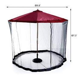 Liveinu Zanzariere Zanzariera per Ombrellone Pavilio Ombrello Parasole da Esterno da Giardino da Spiaggia Protezione Zanzariera di Bug Nero 5 Pezzi - 1