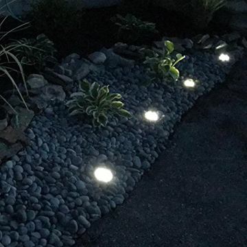 Luci Solari Giardino Tomshine 10 LED Luci led Solari da Esterno Faretti Solari a LED da Esterno IP65 Impermeabile(Bianco caldo)【4PC】 - 1