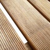 mewmewcat Set di 8 Piastrelle per Decking per Giardino e Terrazza, Legno,Piastrelle per Decking,50 x 50 x 3,2 cm - 1