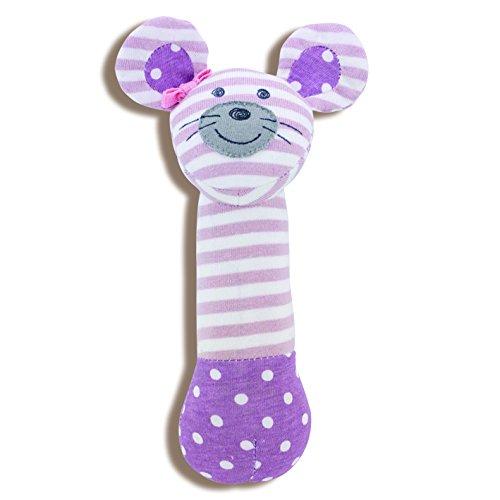 Organic Farm Buddies, Ballerina Mouse Squeaky Toy - 1