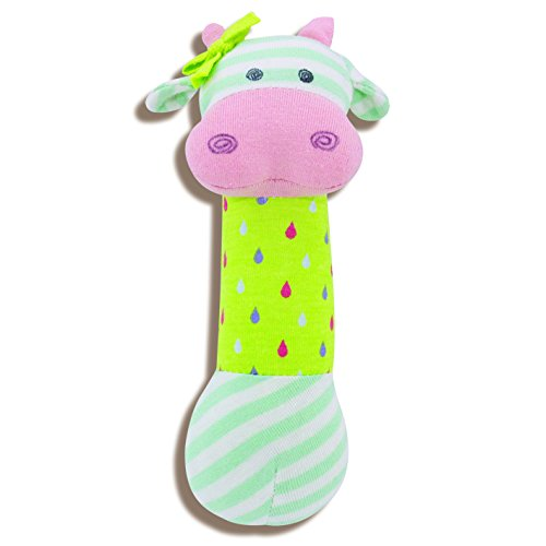 Organic Farm Buddies, Belle Cow Squeaky Toy - 1