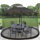 Outdoor Umbrella Table Screen - Black - 1