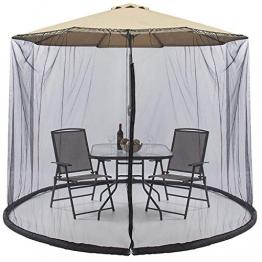 Parkland® Outdoor Garden Umbrella Table Screen ombrellone zanzariera di Bug Copertura Rete, ombrellone convertitore di Trasformate Il Vostro ombrellone in Un Gazebo. - 1