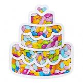 Party&Co. Portaconfetti polistirolo Torta Contenitore eps per Decorazione Compleanno - 1
