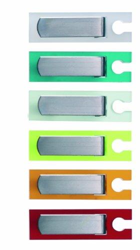 Pension für Produkte Knicks Design del Cavo Titolare Come Un Morsetto da Tavolo/Fermatovaglia, Petrol (Transparent), Kurz (0,5-2,5) - 1