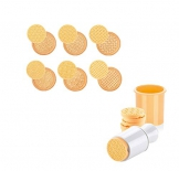 Per i biscotti, 6pcs/set 3D Cartoon Cookie stampo in silicone a forma di albero di Natale, stencil cutter Circle Hand Press, pasticceria fondente cottura Mold, Yellow, 4.92 * 2.17in - 1