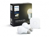 Philips Hue White Starter Kit E27, 9 W, Bianco, Standardverpackung - 1