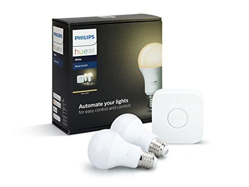 Philips Hue White Starter Kit E27, 9 W, Bianco, Standardverpackung - 1