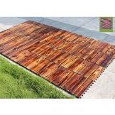 Piastrelle per esterno e da giardino Piastrelle in legno Pavimento per pavimento balcone Terrazzo Decorazione per esterni Pavimento impermeabile 29 * 29cm 10pic - 1