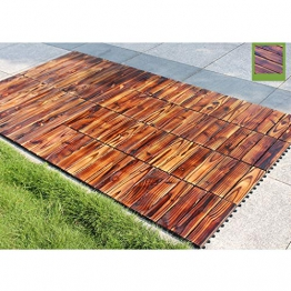 Piastrelle per esterno e da giardino Piastrelle in legno Pavimento per pavimento balcone Terrazzo Decorazione per esterni Pavimento impermeabile 30 * 30cm 10pic - 1