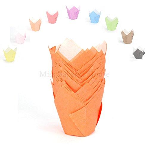 Pirottini per muffin a forma di tulipano Orange - 1