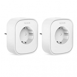 Presa Intelligente WiFi Smart Plug Spina Energy Monitor Compatibile con Google Home/Amazon Alexa/IFTTT,TECKIN Controllo Remoto Funzione di Temporizzazione Presa Wireless per iOS Android App (2pack) - 1
