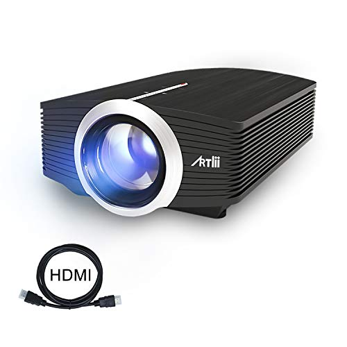 Proiettore Portatile, Artlii Mini Videoproiettore TV Supporto 1080P per Intrattenimento Domestico, con HDMI USB/SD/VGA/AV - 1