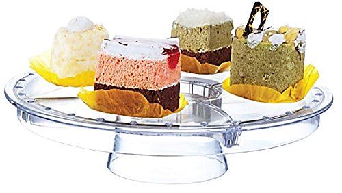 Rammento Multifunctional 5 in 1 Cake Stand and Dome. Wedding Cake Dome, Punch Bowl, Salad Bowl, Chip & Dip Server, Serving Stand, Food Dome by Rammento - 1