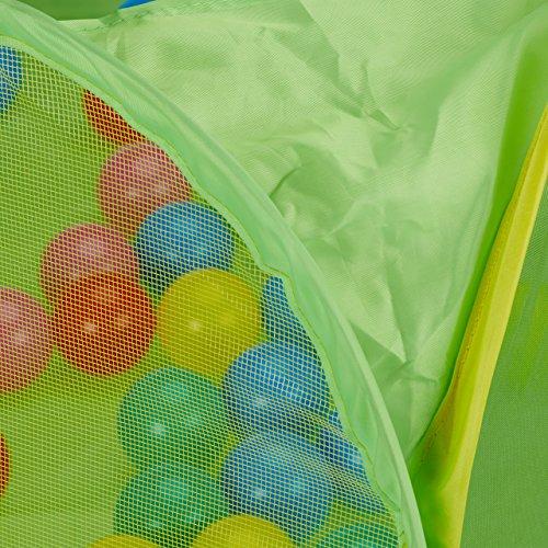 Relaxdays 10022475 Piscina Palline per Neonato da 6 Mesi Ball pool Quadrata 50 Palline BPA free Vasca Pop up HxL 50x110 cm Colorata - 1