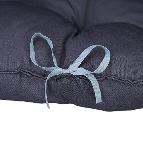 Relaxdays 10023472_111 Cuscino per Pallet da Giardino, Imbottitura per Bancali, Pedane, Trapuntato con Schienale, Grigio - 1