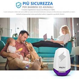 Repellente Topi Zanzare ad Ultrasuoni Efficace Professionale Tropicali Contro Zanzare, Ragni, Ratti, Scarafaggi e Formiche, Insetti. - 1