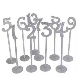Rosenice - Segnaposti  con glitter - Colore argento - Ideali per matrimonio 1–20, 20pz - 1