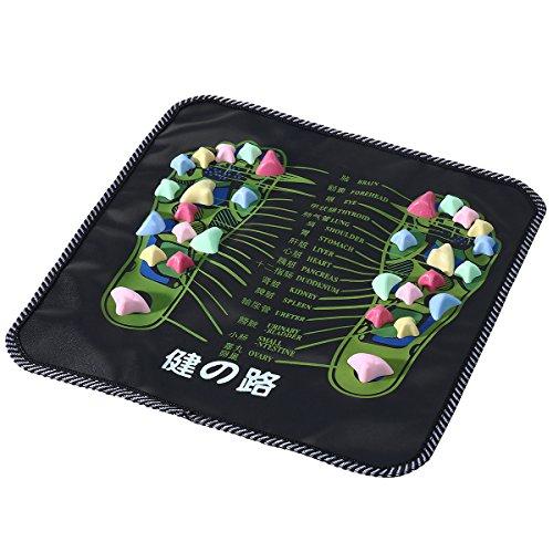 ROSENICE Tappetino massaggio piedi Tappetino riflessologia digitopressione (Nero) - 1