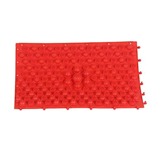ROSENICE Tappetino massaggio piedi Tappetino riflessologia digitopressione (Rosso) - 1
