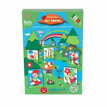 Sabbiarelli- Mini Kit Baby Gli Gnomi, 100MK0605 - 1