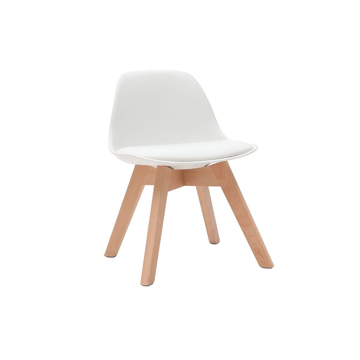Sedia design bianca con piedi in legno BABY PAULINE Offerte e sconti