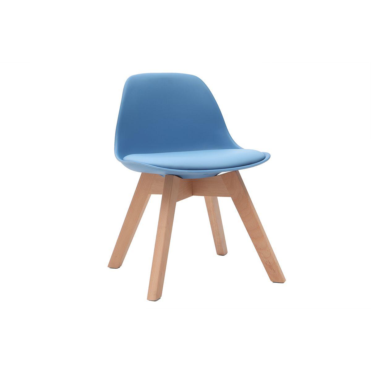 Dove acquistare Sedia design blu con piedi in legno BABY PAULINE
