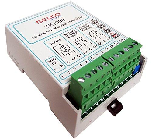 SELCO ITALIA Centralina automazione tapparelle a Motore per Comando Singolo e centralizzato TM1000 - 1