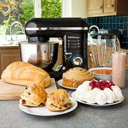Sensio Home Robot Cucina Frullatore Miscelatore 2-in-1 | Motore Elettrico 1000W | Impastatrice, Battitore, Paraspruzzi, 6 velocità | Ciotola in Acciaio Inox 4,5 litri - Brocca di Vetro da 1,5 l - 1