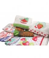 Set 2 strofinacci da cucina stampati in spugna di puro cotone - 50807.. Tessuto Cotone, Variante Marinella, Misura Set 2 pz