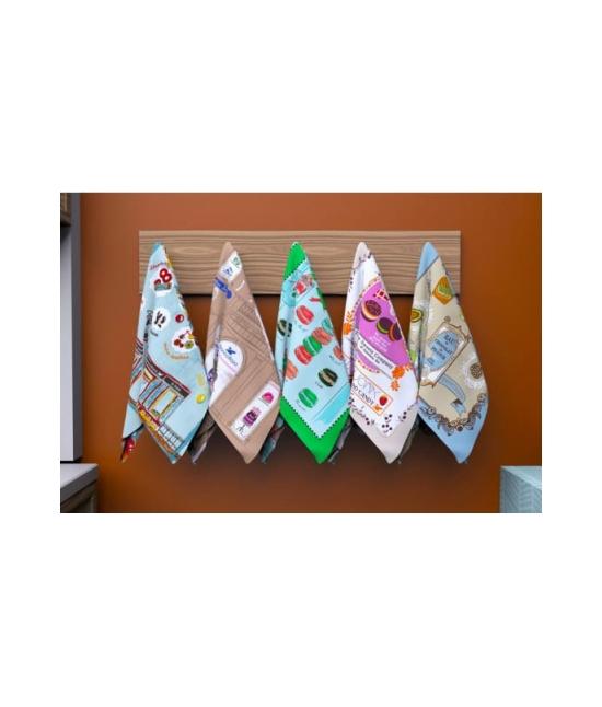 Set 5 strofinacci da cucina in puro cotone - bakery.. Tessuto Cotone, Misura Set 5 pz