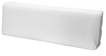 SET CUSCINI PER DIVANI PALLET BANCALI Seduta 120x80x15 cm + Schienale 120x39x11-19 cm - Ecopelle IDROREPELLENTE BIANCO - 2