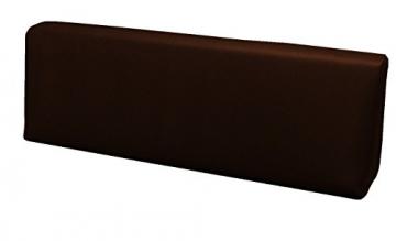 SET CUSCINI PER DIVANI PALLET BANCALI Seduta 120x80x15 cm + Schienale 120x39x11-19 cm - Ecopelle IDROREPELLENTE MARRONE - 3