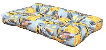 SET CUSCINI PER DIVANI PALLET BANCALI Seduta 120x80x15 cm + Schienale 120x42x10-18 cm - FARFALLE - 3