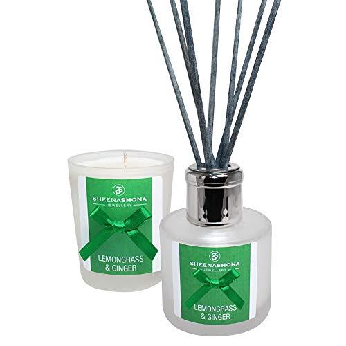 Set regalo con candela votiva e diffusore alla citronella e zenzero - 1