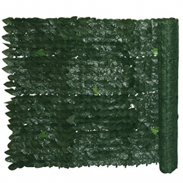 Siepe sintetica giardino con foglie di edera Cm 1x20 m Evergreen Edera - 1