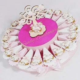 Sindy Bomboniere Torta Portaconfetti Magnete Unicorno (Torta da 20 fette, Bambina) - 1