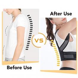 Slimerence Correttore di Postura, Cintura Postura Posteriore Correzione, Schiena Traspirante Supporto, Tutore per Spalle e Schiena per Uomo e Donna - 1