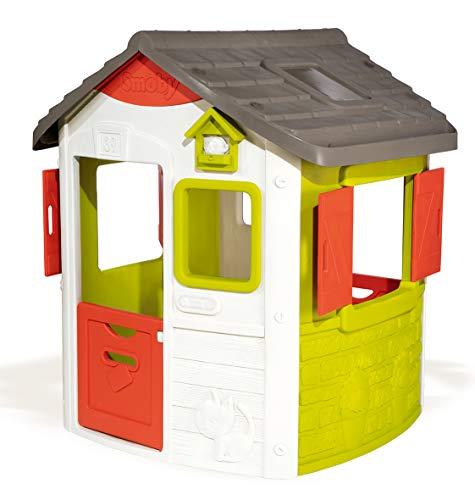 Smoby Nuova Casetta Jura Lodge modulare, Colore Verde e Rosso, 7600810500 - 1