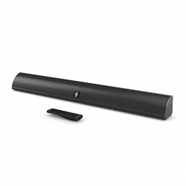 Snowdon Soundbar II con suono surround Subwoofer integrato, dispositivo wireless 5.0 Bluetooth da 120 W Streaming, telecomando, montabile a parete, compatibile con l'ottica, cavo RCA incluso (nero) - 1
