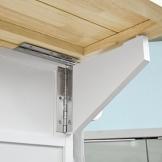 SoBuy® Carrello cucina,Credenza,Piano in legno di Hevea è allungabile,con ruote, FKW41-WN,IT - 1