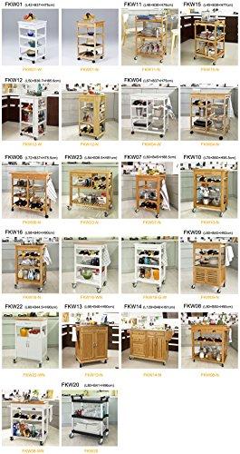 SoBuy® Carrello da cucina, Carrello di servizio, Legno e Bambù, FKW16-WN, (L58*L40*A90cm).IT - 1