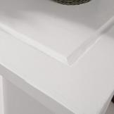 SoBuy® Carrello di servizio, Scaffale da cucina, Mensola angolare, Legno, FKW12-W(L50*L37*A86cm).IT - 1